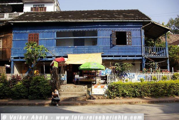 Holzhaus in Luang Prabang Laos © Volker Abels