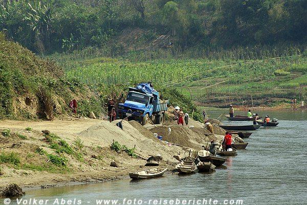Am Khan-Fluss bei Luang Prabang - Laos © Volker Abels