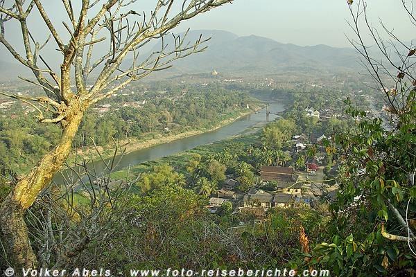 Blick auf Luang Prabang vom Berg Phousi  - Laos © Volker Abels