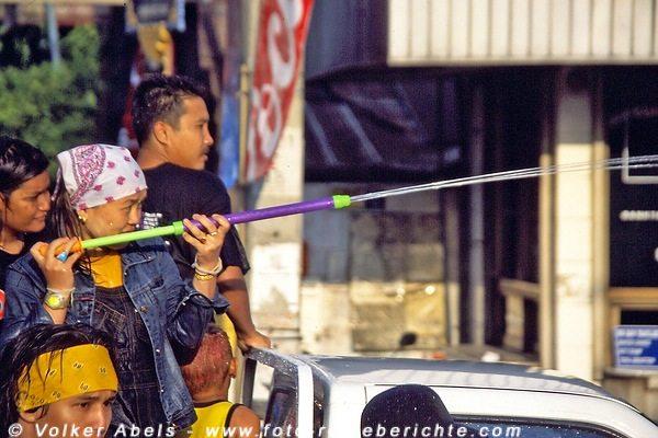 Zielen ist Alles - Songkran Fest in Chiang Mai - Thailand © Volker Abels