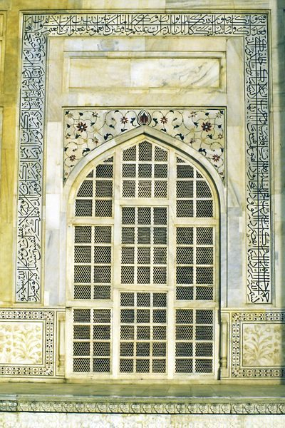 Schöne Marmorarbeiten am Taj-Mahal in Agra - Indien © Volker Abels