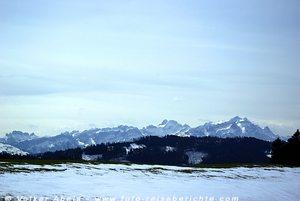 Bergreihe, Blick von St. Anton, Schweiz © Volker Abels