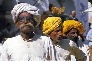 Männer aus Rajasthan in Pushkar - Indien © Volker Abels