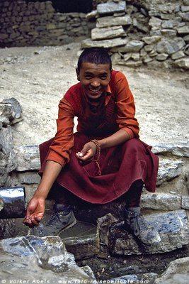 Karma, der junge Mönch aus Lamayuru - Ladakh - Indien © Volker Abels