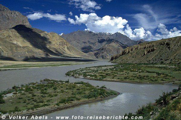 Der Zanskar-Fluss im Zanskar-Tal. © Volker Abels