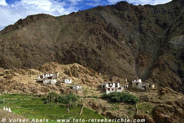 Typische Siedlung in Ladakh und Zanskar. © Volker Abels