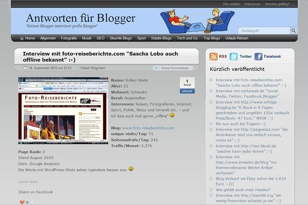Foto-Reiseberichte im Interview auf http://blogger-antworten.com/