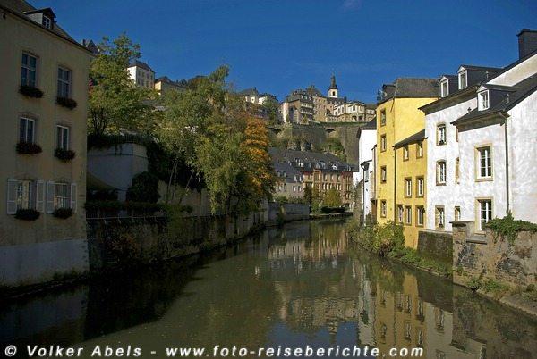 Blick auf den Fluß Alzette - Luxemburg © Volker Abels
