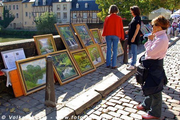 Kunstmarkt in der Unterstadt - Luxemburg © Volker Abels