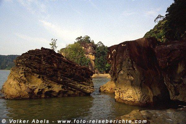 Felsformation im Bako Nationalpark, Sarawak, Borneo - Malaysia © Volker Abels