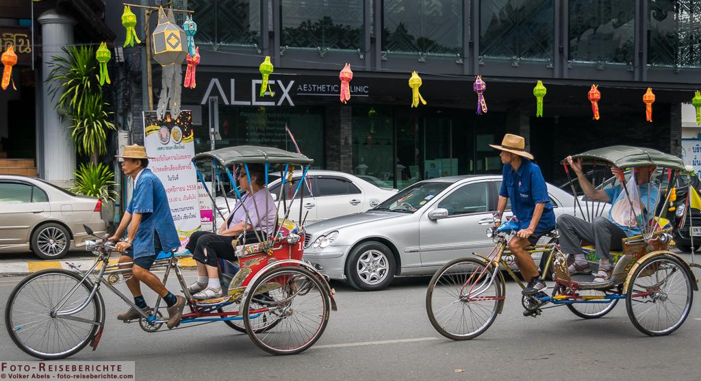 fahrradrikscha in chiang mai - thailand ©Volker Abels foto-reiseberichte.com
