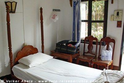 Zimmer in einer Pension in Laos © Volker Abels