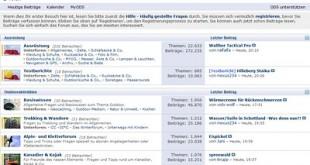 Outdoorseiten.net – das Forum rund um Outdooraktivitäten