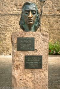 Büste von von Frédéric Chopin - Valdemossa - Mallorca - Spanien