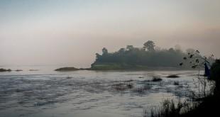 Mekong im Dunst
