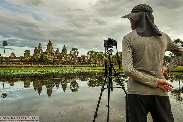 Fotograf am Angkor Wat in Kambodscha