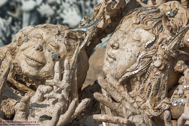 Das soll auch die Hölle sein? WeißerTempel Chiang Rai-Thailand © Volker Abels - www.foto-reiseberichte.com