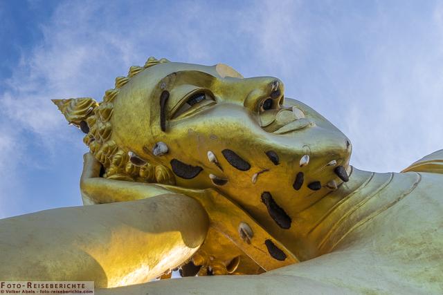 Kopf des liegenden Buddha - Wat Mok Khan Lan / Suttichit Buddha Park © Volker Abels - www.foto-reiseberichte.com