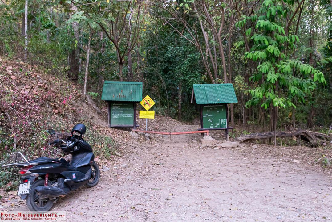 Startpunkt des Monk Trails